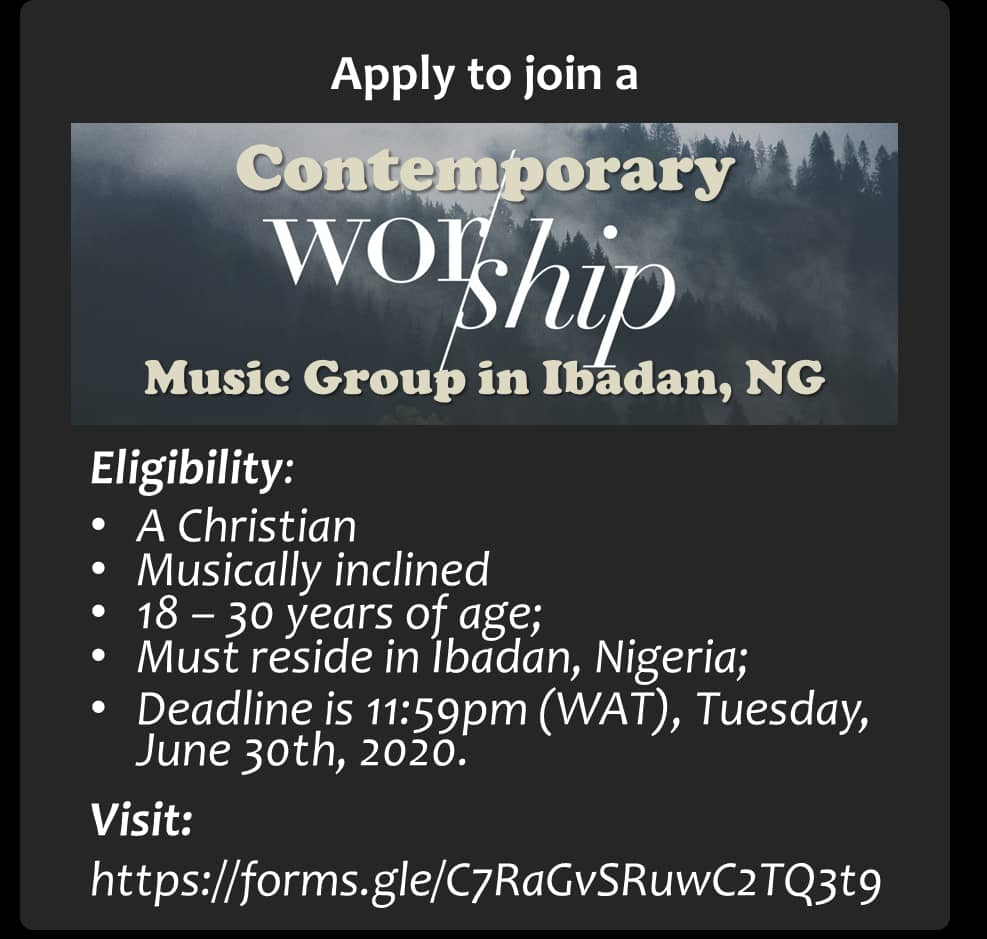 Join Contemporary Worship Group in Ibadan