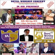 "ROYAL WORSHIP CONCERT [@ihpconcert] CLOCKS 2 ""IN HIS PRESENCE"""